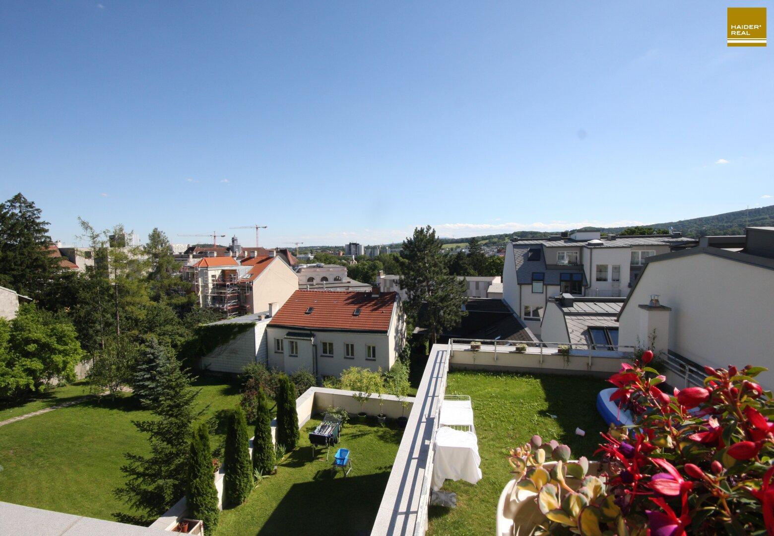 Tolle Aussicht vom Balkon ins Wiental