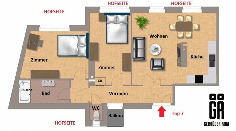 RUHIGER und HELLER  ERSTBEZUG - 1080 Wien - 3 Zimmer - DESIGNERKÜCHE - U-Bahn Nähe - SMARTHOME - ALLE ZIMMER HOFSEITIG /  / 1080Wien / Bild 14