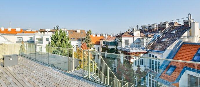 Luxuserstbezug: neu errichtete Dachterrassenwohnung mit Panoramaterrasse