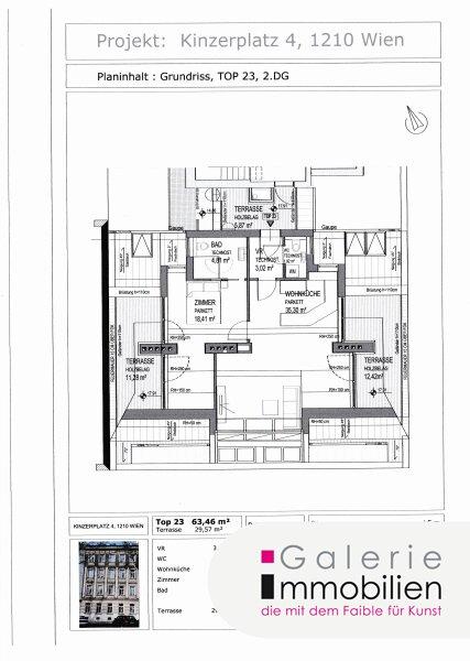 Nähe Alte Donau - Bezaubernde DG-Wohnung mit 3 Terrassen und wunderbarem Ausblick Objekt_31830 Bild_195