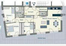 +++ LUXUS IN GEIDORF +++ Provisionsfreies 4-Zimmer-Penthaus mit großer Dachterrasse - ERSTBEZUG