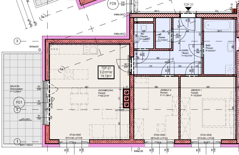 Top 27 - Drei-Zimmer-Wohnung mit Loggia mit Blick auf den Schneeberg /  / 2700Wiener Neustadt / Bild 9