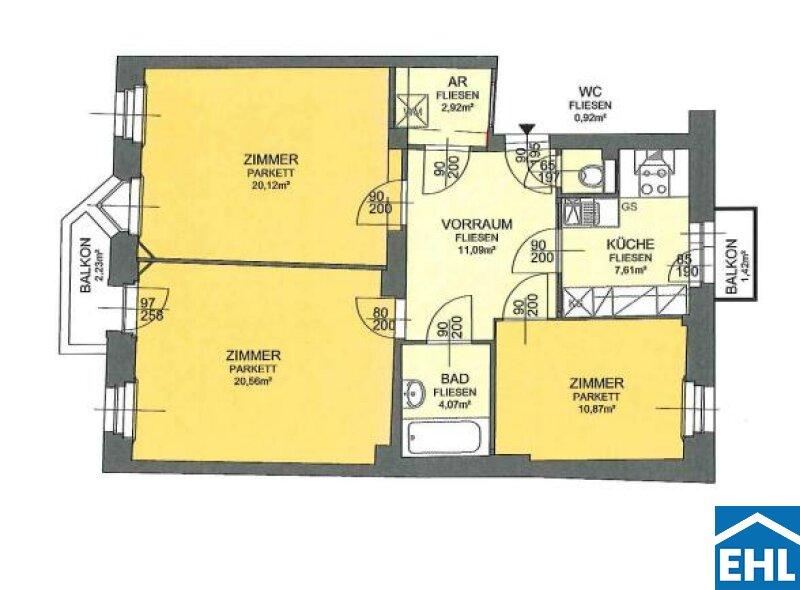 3-Zimmer-Wohnung im Altbau /  / 1030Wien / Bild 9