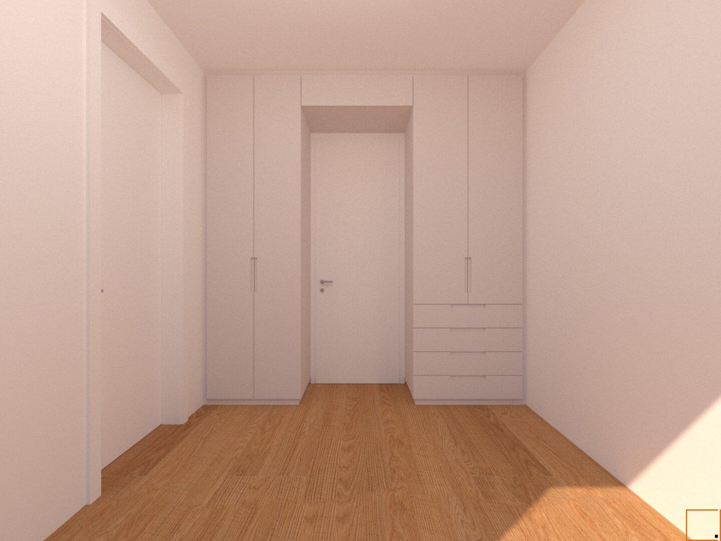 Visualisierung Einbauschrank - Schlafzimmer