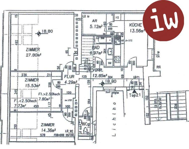 Top-gepflegte Dachgeschosswohnung mit herrlicher Terrasse Nähe UNO- City! Objekt_592 Bild_164