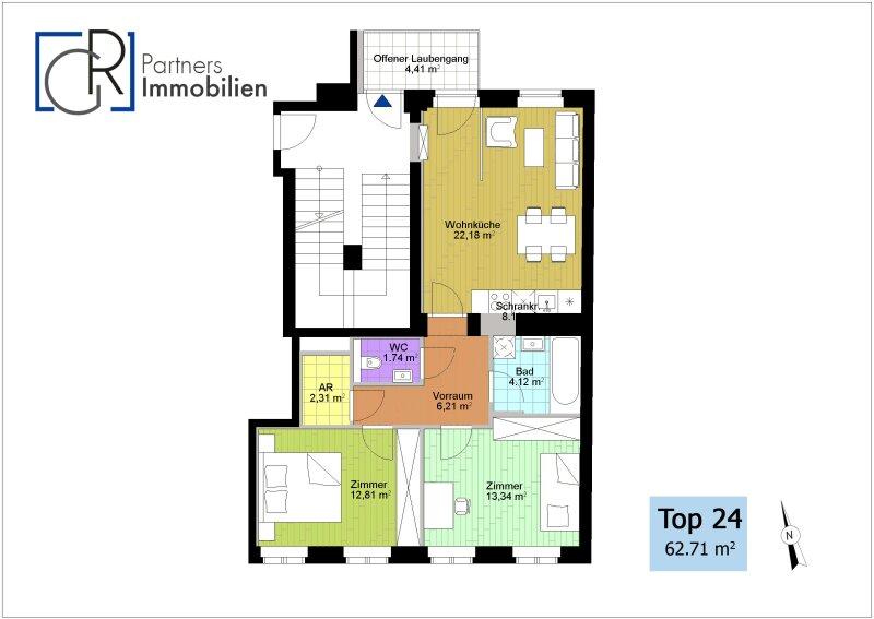 Ohne Provision! Barrierefrei: Die perfekte Immobilie an der U6 /  / 1060Wien / Bild 3