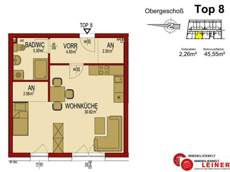 45m² Mietwohnung im Herzen von Himberg - hell und geräumig Objekt_8908 Bild_179