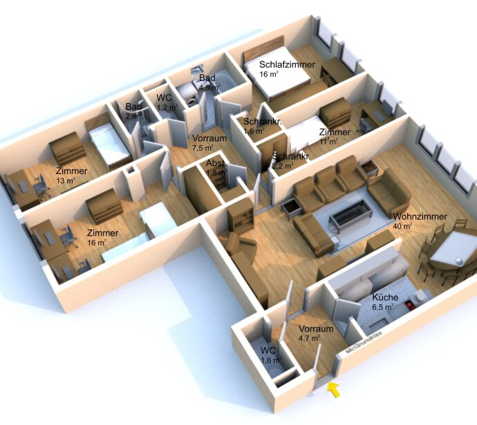 BESTE ZENTRALE LAGE - NEUBAUWOHNUNG mit 5 Zimmern