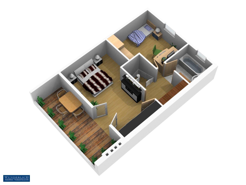 3D Visualisierung - Dachgeschoß