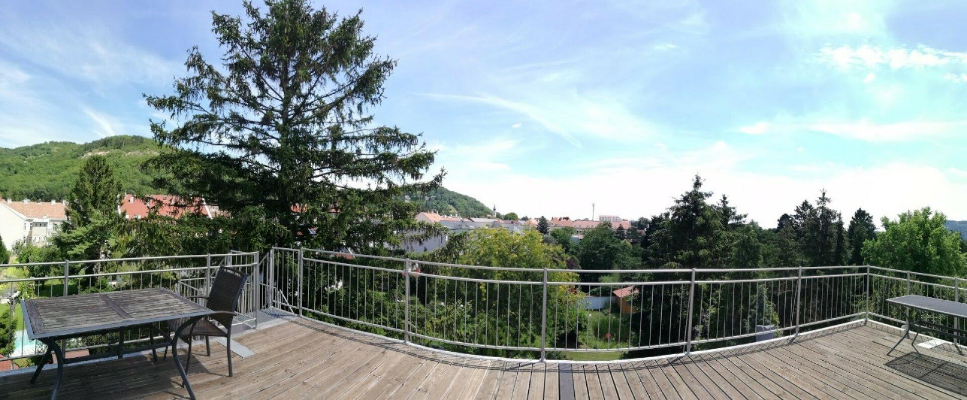 Panoramablick von Dachterrasse