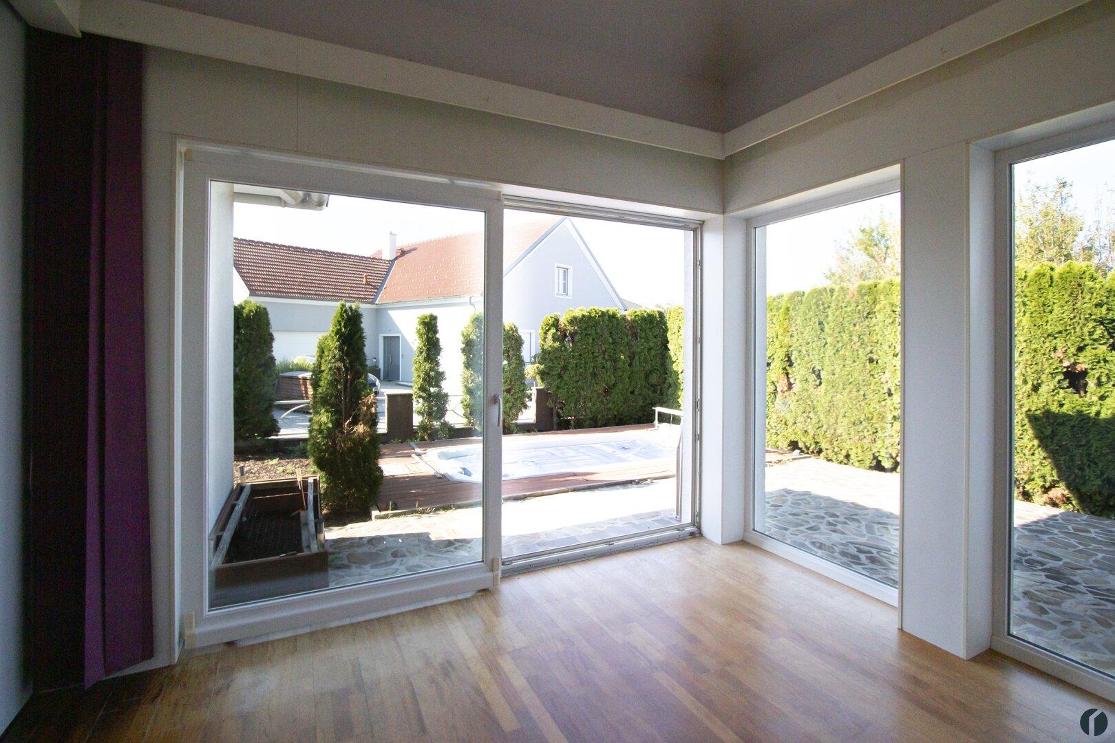 Blick zur Terrasse