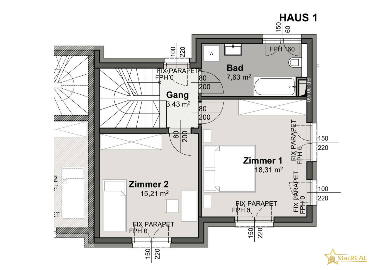 HAUS 1 Obergeschoss