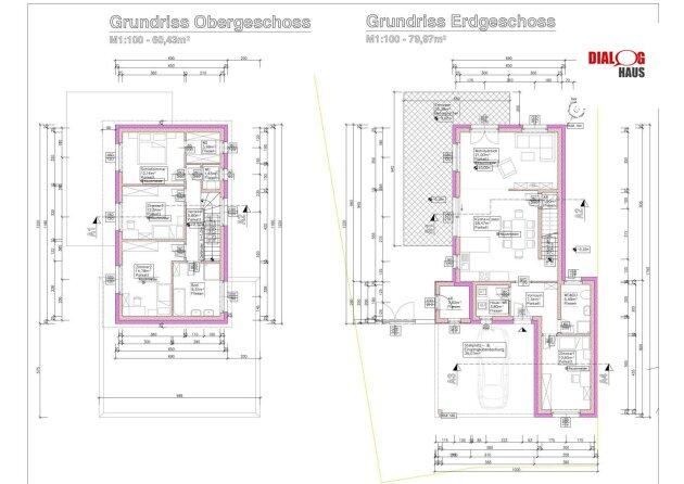 Modern gestaltetes Einfamilienhaus