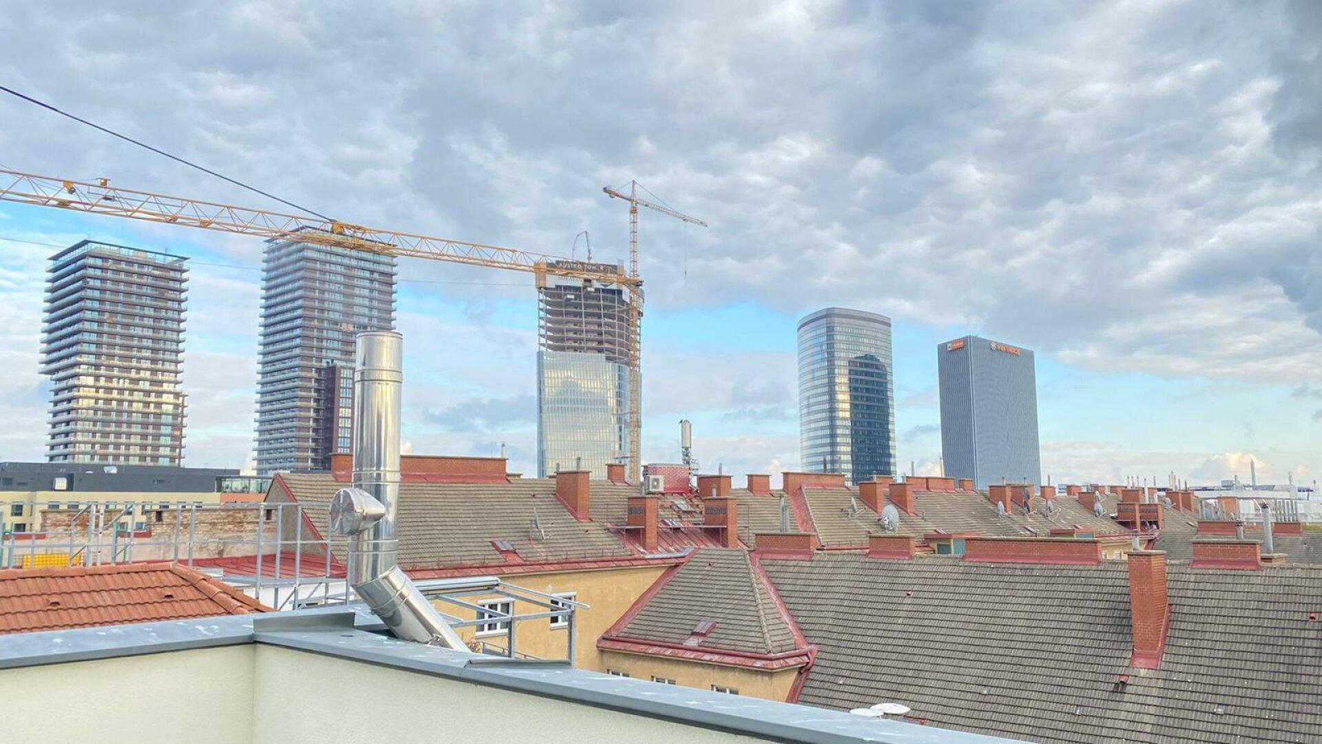 Aussicht Dachterrasse - Richtung Osten
