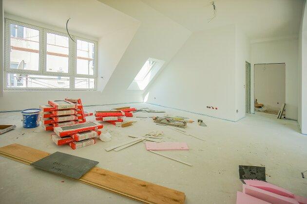 Foto von NEU! ++ LUXUS DACHGESCHOSSWOHNUNG mit DACHTERRASSE, HOFSEITIG, 3 Zimmer, Raumhöhe 3 m, Solar Rollläden, Klima, Fußbodenheizung, 1090 Wien (Top 24) +