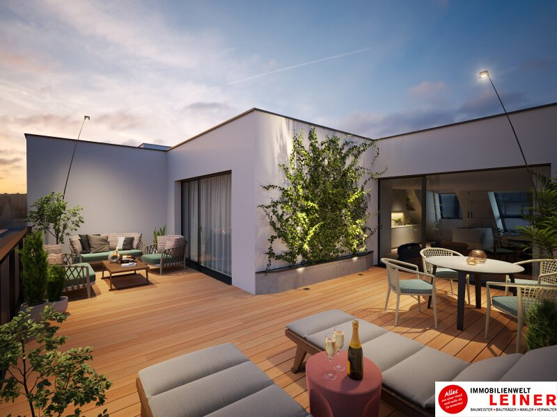 Eine Wohnung die die Seele berührt - Dachgeschosswohnung mit 37,79m² sonniger Terrasse - Provisionsfrei - Familientraum mit 3 Zimmern Objekt_15337 Bild_222