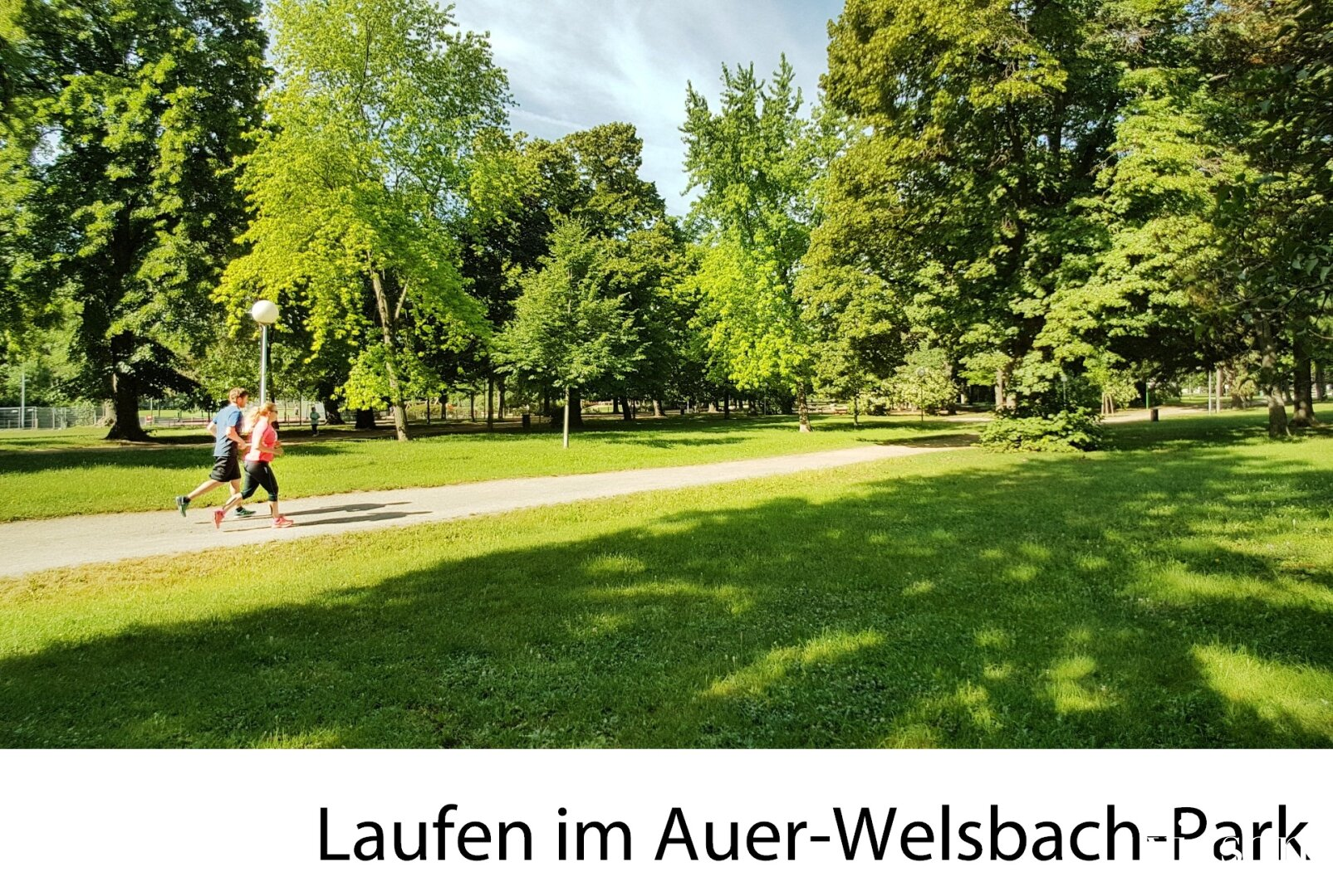 Laufen im Auer Welsbach Park