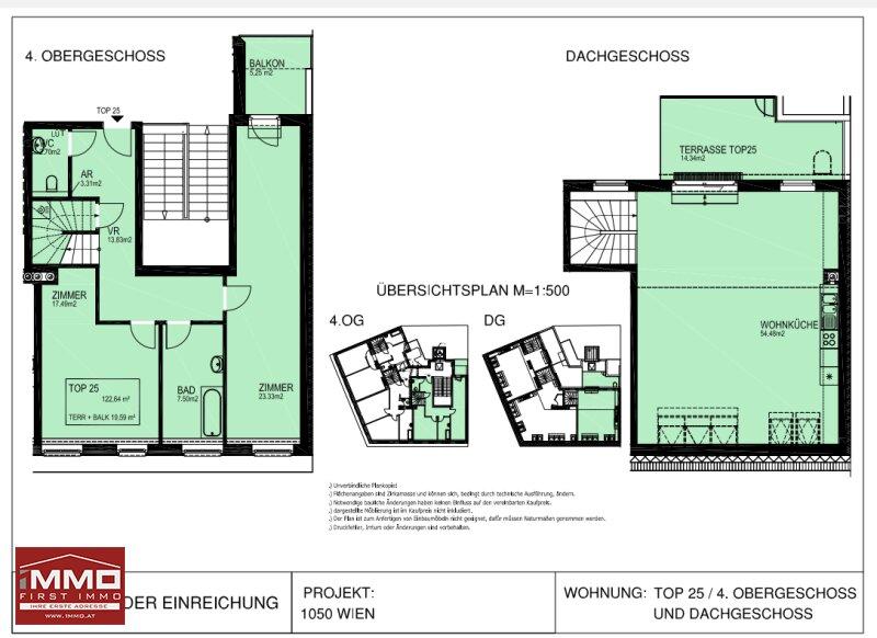 Luxuriöse Dachgeschoß-Maisonette mit Terrasse und Balkon! /  / 1050Wien / Bild 6