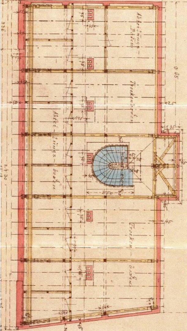 Grundriss DB (Bestandsplan aus dem Bauakt)