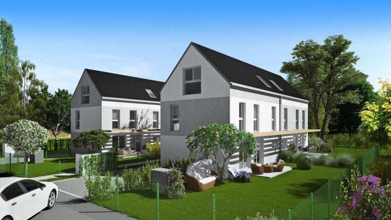 Doppelhaus vor Baubeginn mit Fernblick und großem Garten, Pfingstrosenweg Ecke Huflattichweg