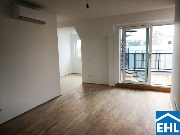 ERSTBEZUG: Gemütliche 2 Zimmerwohnung mit atemberaubender Dachterrasse