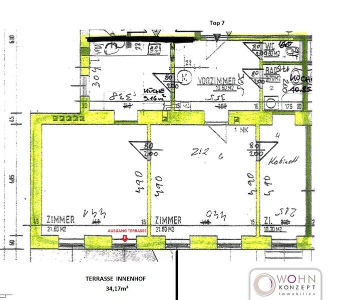 Unbefristeter 80m² Altbau + 34m² Terrasse in Ruhelage! /  / 1150Wien / Bild 9