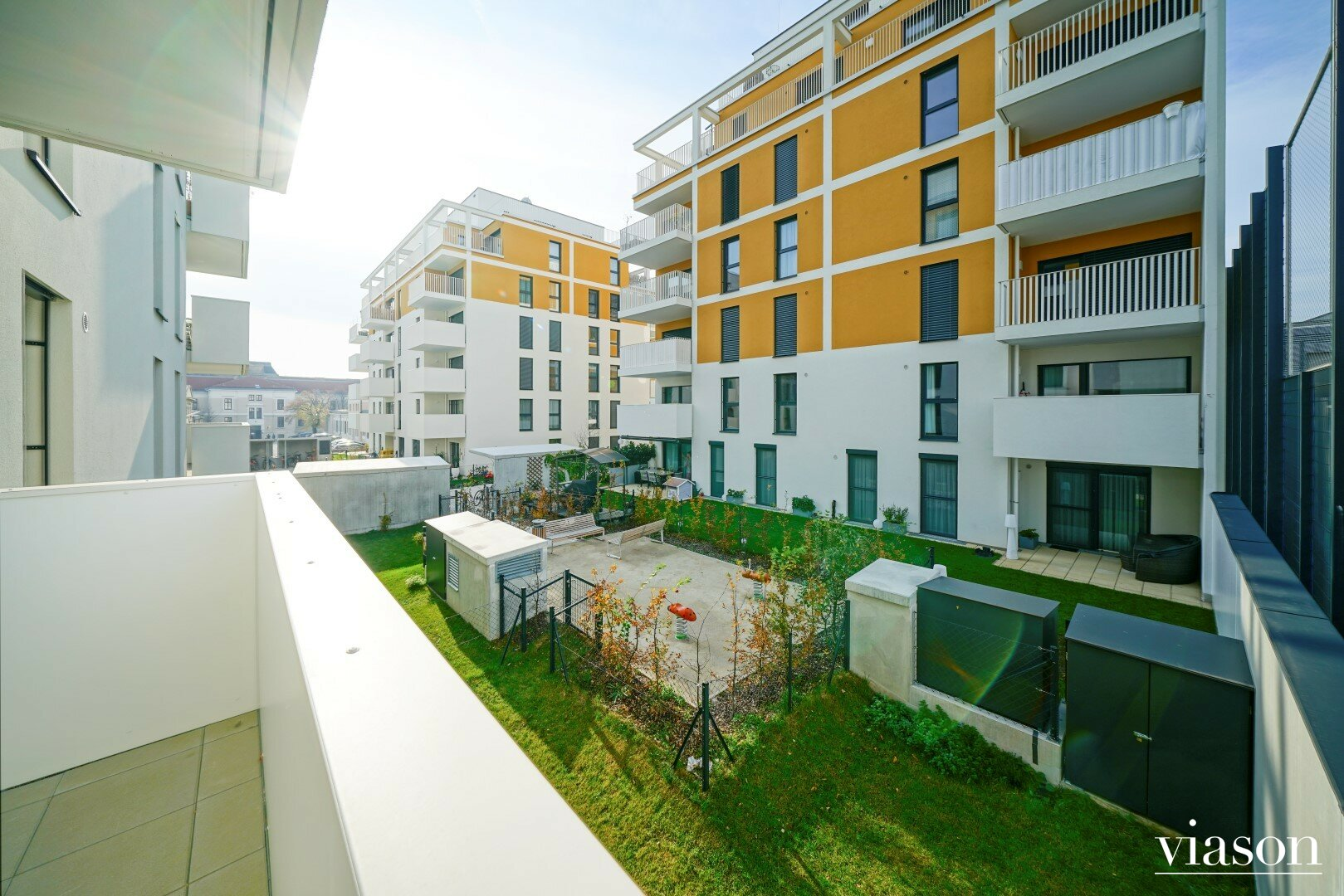 Loggia/Balkon Blick