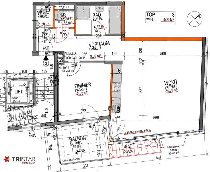 NEU! ++ 2 Zimmer Neubauwohnung in 1130 Wien, Balkon, Garage  ++ /  / 1130Wien / Bild 4
