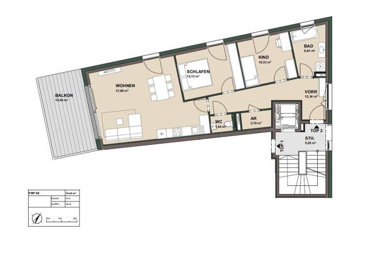 Sonnige 3-Zimmer-Garten-Wohnung in Aigen