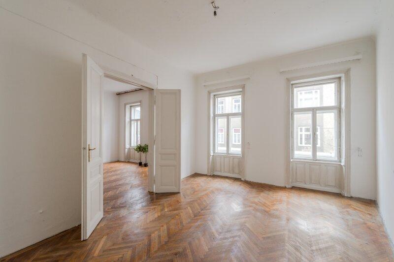 ++NEU++ Sanierungsbedürftige Stilaltbauwohnung in aufstrebender Lage! 4-Zimmer möglich! /  / 1150Wien / Bild 3