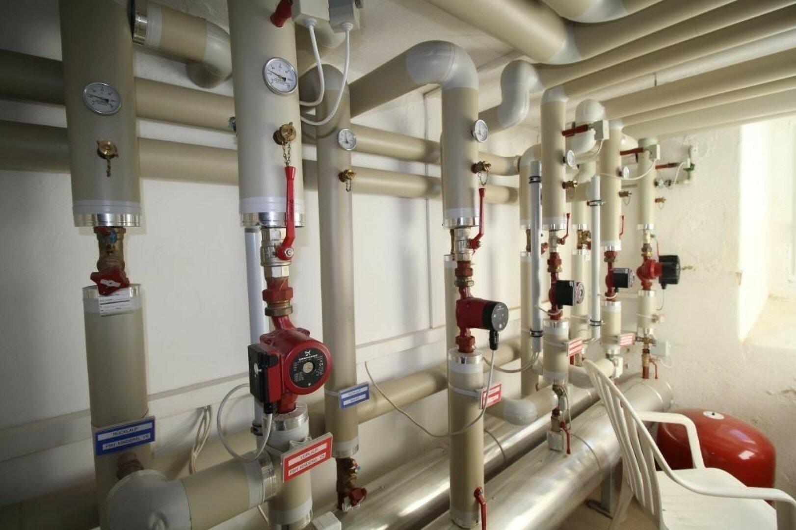 Technikraum für Heizung und Wasser