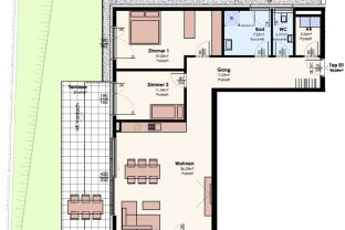VERKAUFT: BelleVie Inzing - Top 1 - 3-Zimmer-Gartenwohnung