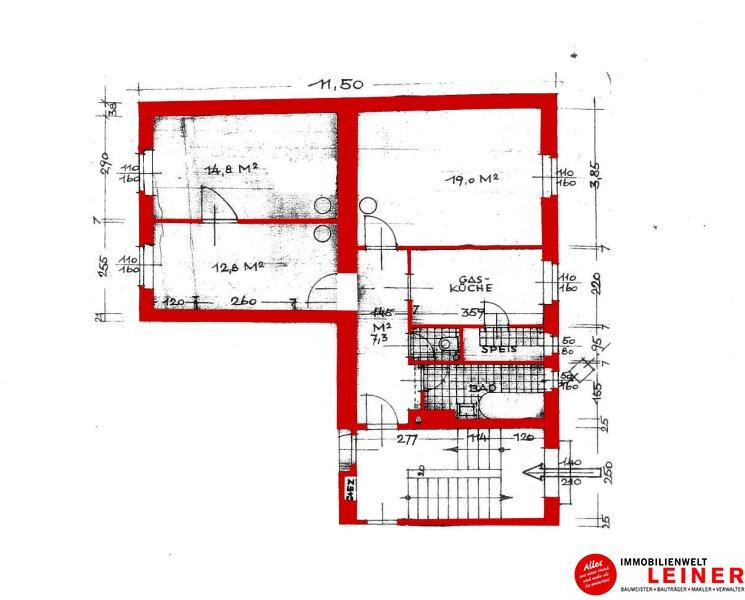 Schwechat:  60m² Mietwohnung  - 2 Zimmer in herrlich ruhiger Zentrumslage! Objekt_9244 Bild_838