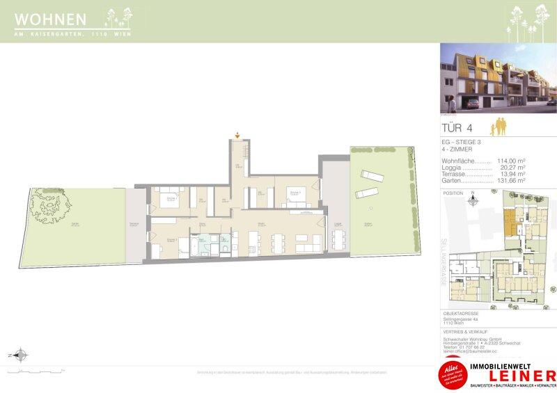 Provisionsfrei & Erstbezug! Traumhafte 4 Zimmer Gartenwohnung mit 150m² grüner Flächen Objekt_12104 Bild_818