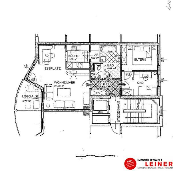 Schwechat: Top gepflegte 3 Zimmer Eigentumswohnung mit sonniger, ruhiger Loggia! Objekt_8837 Bild_718
