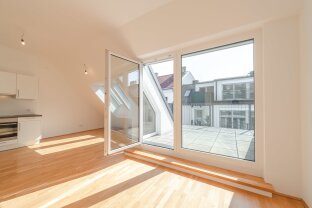 exklusive 3-Zimmer Dachgeschosswohnung mit Freifläche nahe Schubertpark