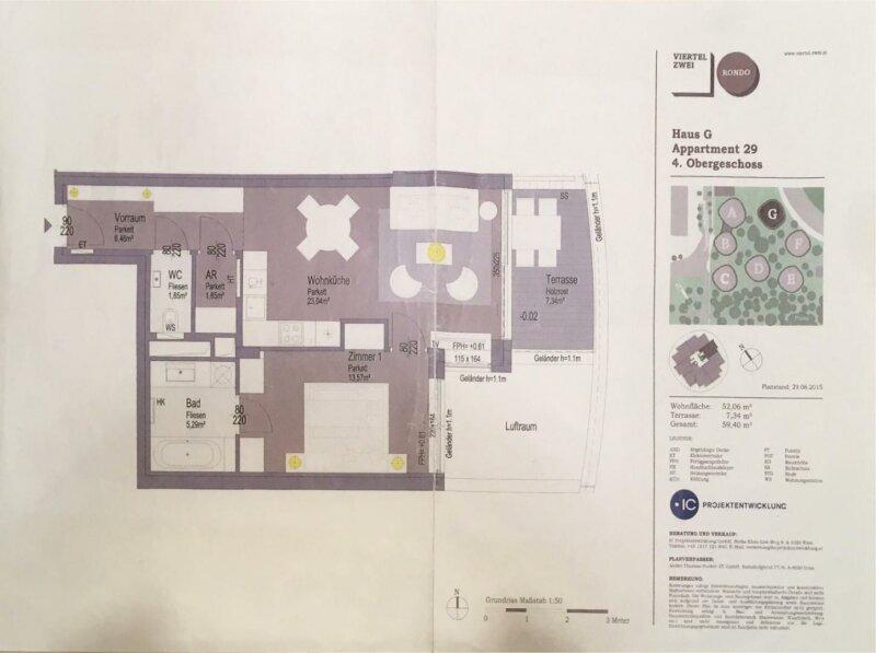 Neubau Erstbezug, Luxus 2 Zimmer Terassenwohnung am grünen Prater /  / 1020Wien / Bild 13