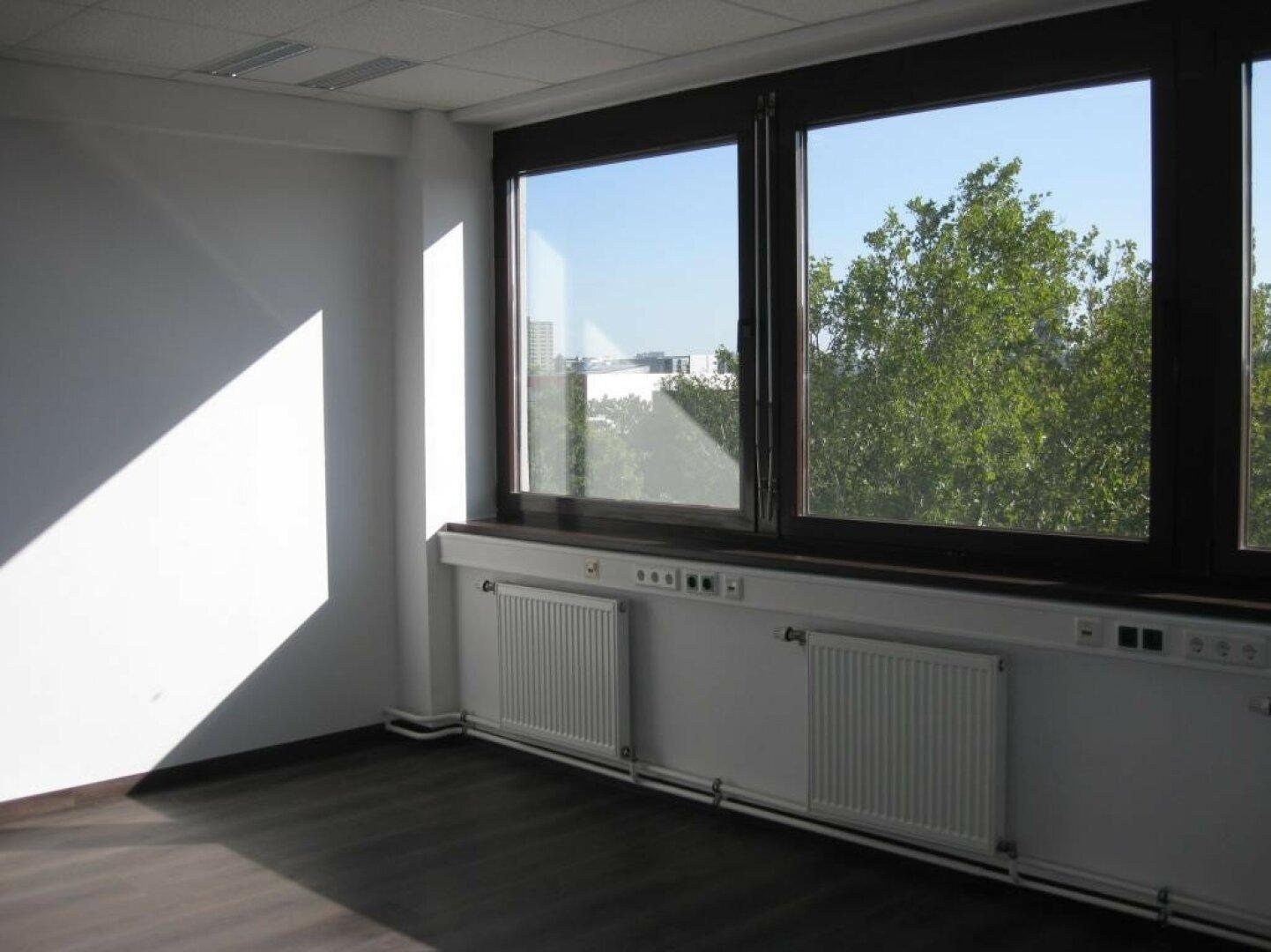 Helles, sonniges Büro mit Klimaanlage