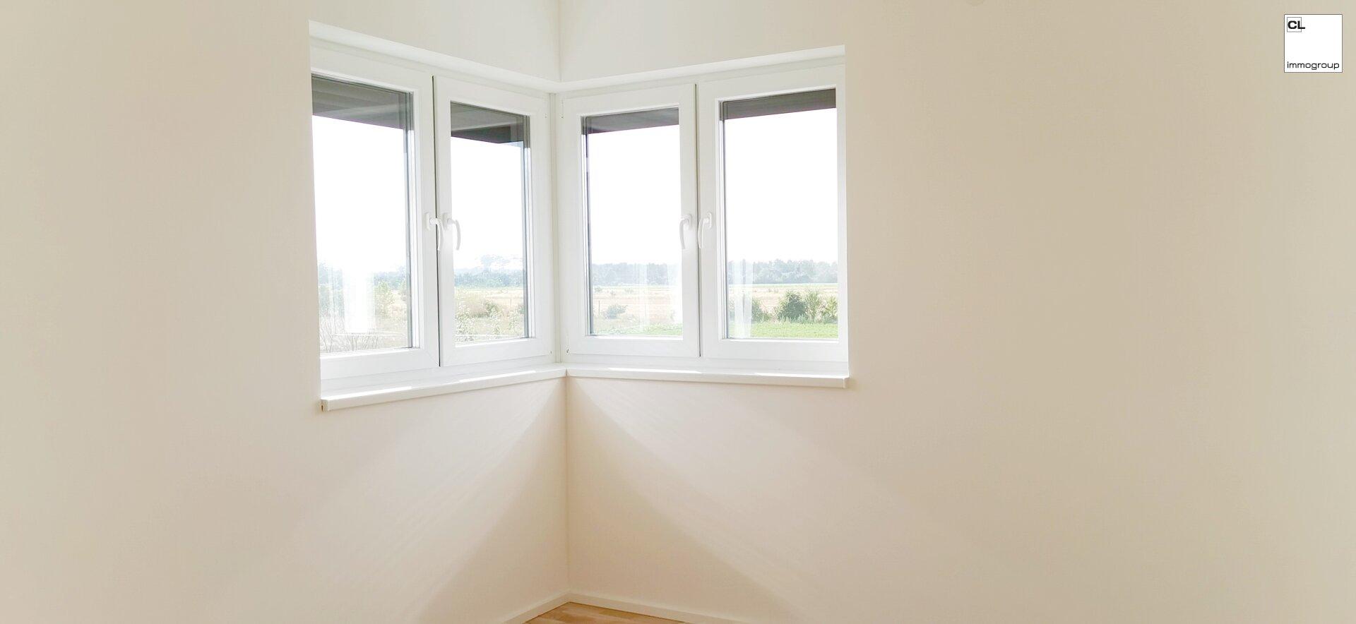 Eckfenster Ansicht von Innen