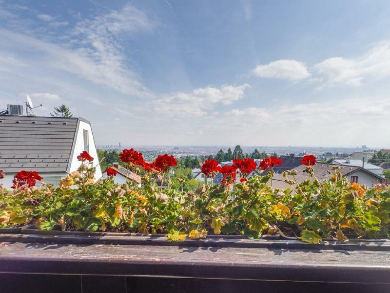 Traumhafter Blick vom Balkon vor beiden Schlafzimmernn