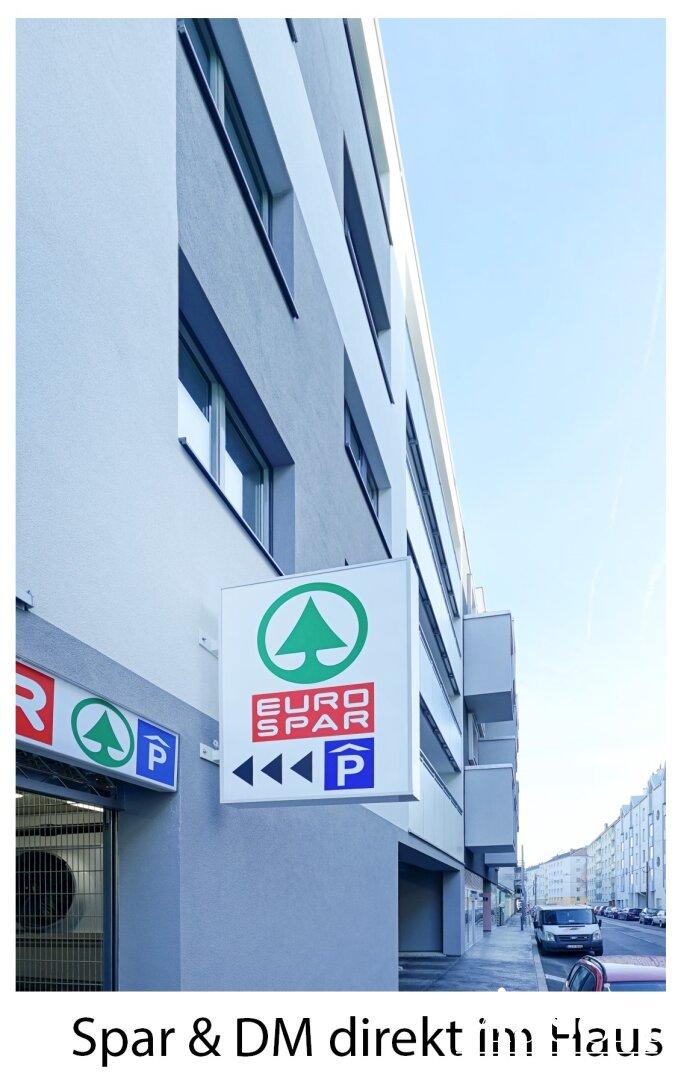 Einkaufsmöglichkeiten in der Wohnhausanlage