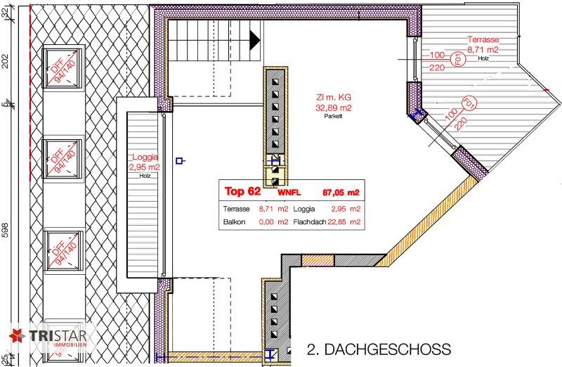 NEU! ++ ERSTBEZUG !!! Dachterrassenwohnung mit 360 Grad Wienblick !!! Terrasse+ Dachterrasse!!! 4 Auto Stellplätze (Top 62) ++ /  / 1100Wien / Bild 15