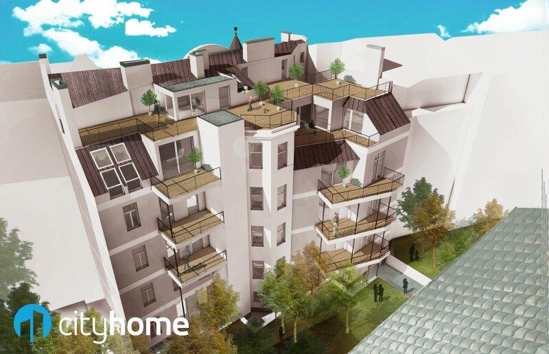 perfekt aufgeteilte 37m² - 16 m² Hofterrasse - Wohnküche - Schlafzimmer - THE RESIDENCE /  / 1140Wien / Bild 2