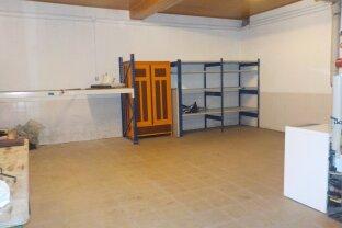 Geräumige Hobbywerkstatt/ Garage/ Lager (ca. 45m²) - bei Bedarf mit einem zusätzlichen Kellerraum erweiterbar - Nähe von Wiener Neustadt (Obj.Nr.:8966)