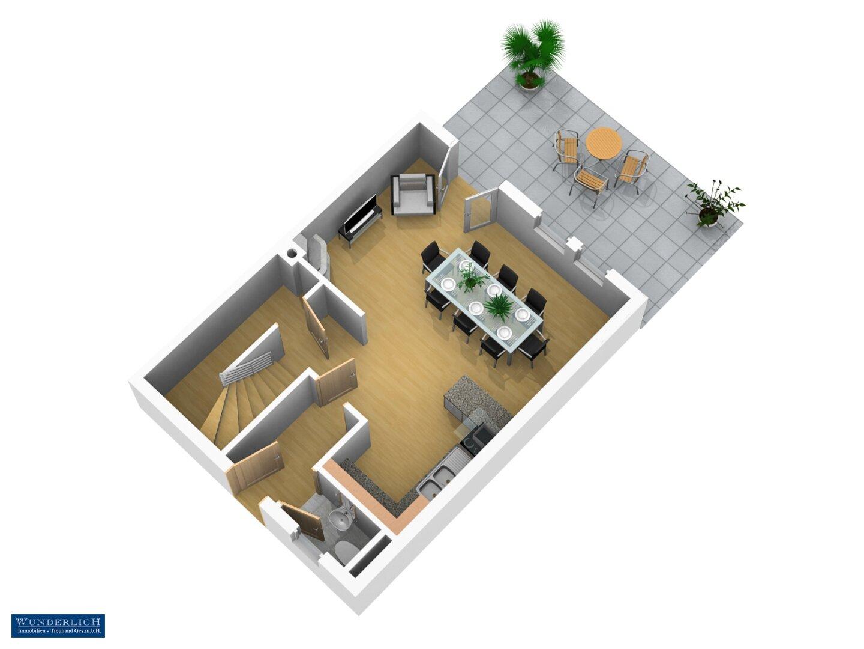 3D-Ansicht 1 Erdgeschoß