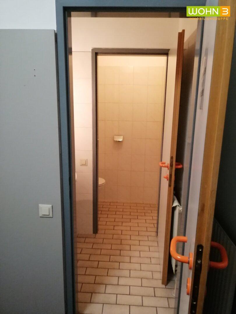 Blick zum WC