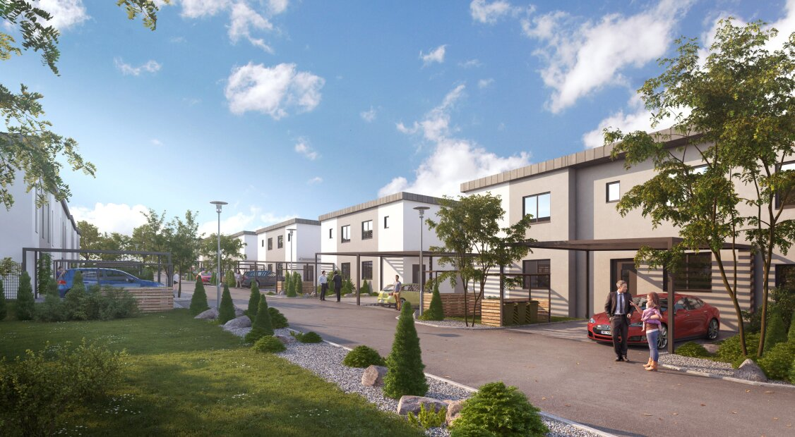 Wohnen am Neuberg, Reihenhaussiedlung Stetten bei Korneuburg