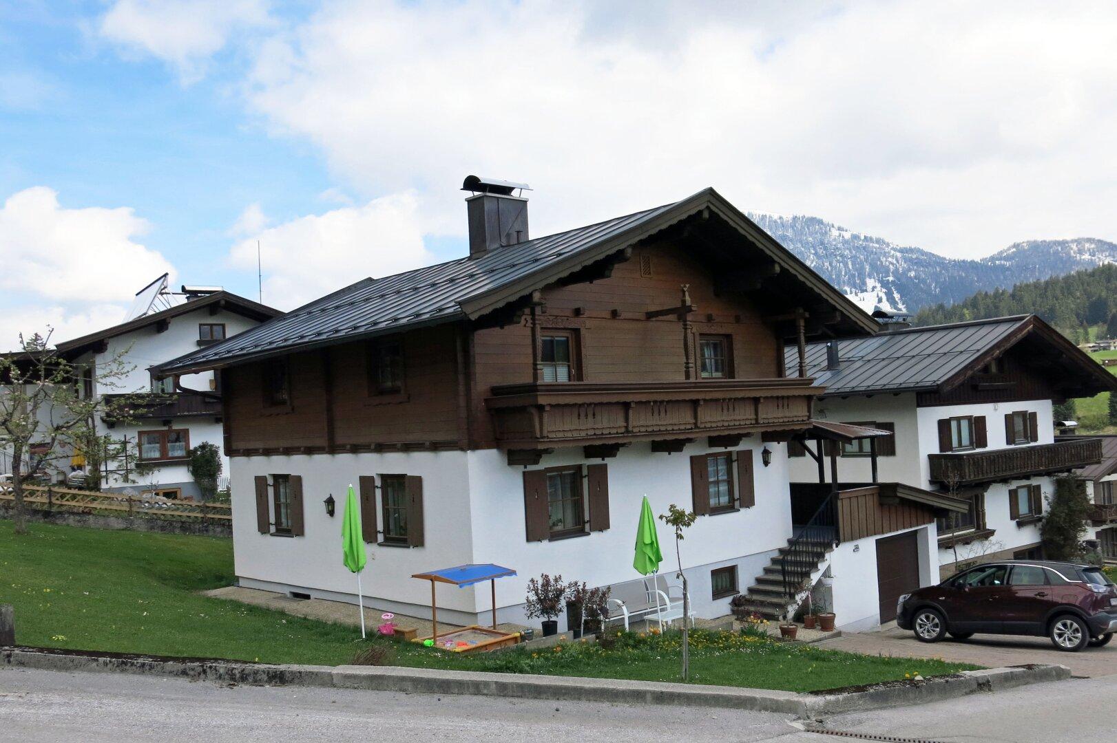 Hausansicht von Süden, Einfamilienhaus Fieberbrunn