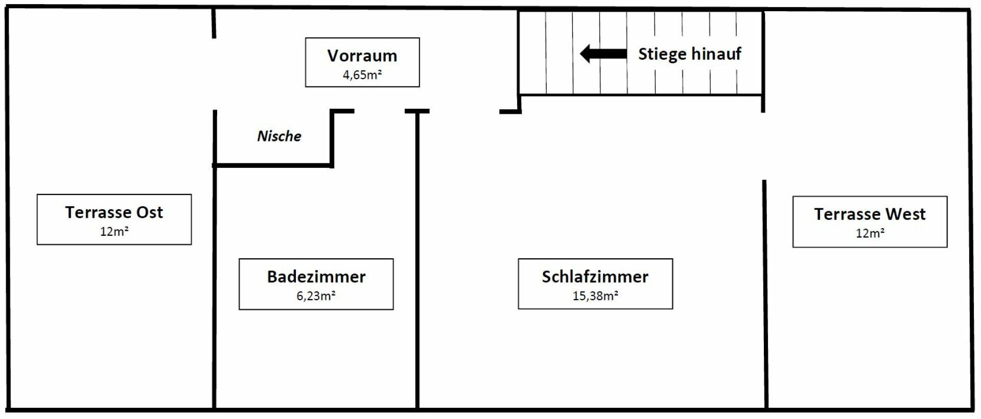 Plan obere Etage