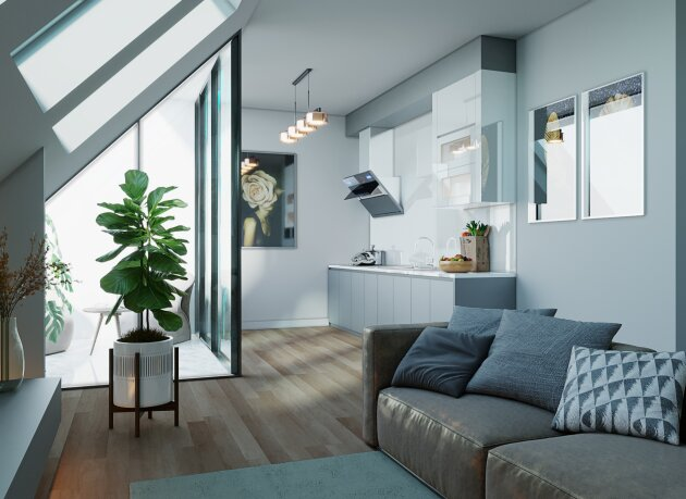 Foto von +Lichtdurchflutete+ 3-Zimmer DG-Neubauwohnung (Fertigstellung Mai 2021!)